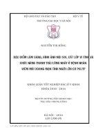 ĐẶC điểm lâm SÀNG, HÌNH ẢNH nội SOI, cắt lớp VI TÍNH và CHỨC NĂNG THANH THẢI LÔNG NHẦY ở BỆNH NHÂN VIÊM mũi XOANG mạn TÍNH NGƯỜI lớn có POLYP