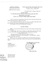 Nghị quyết Hội đồng Quản trị - Công ty Cổ phần Nhiệt điện Ninh Bình