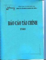 Báo cáo tài chính quý 3 năm 2010 - Công ty Cổ phần Xi Măng Hà Tiên 1
