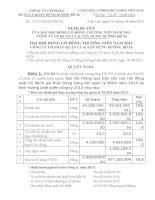 Nghị quyết Đại hội cổ đông thường niên năm 2013 - Công ty Cổ phần Quản lý và Xây dựng Đường bộ 26