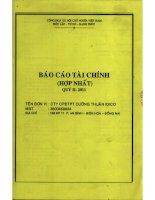Báo cáo tài chính hợp nhất quý 2 năm 2011 - Công ty Cổ phần Đầu tư Phát triển Cường Thuận IDICO