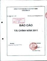 Báo cáo tài chính quý 4 năm 2011 - Công ty cổ phần Đầu tư và Phát triển Cảng Đình Vũ