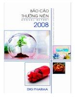 Báo cáo thường niên năm 2008 - Công ty Cổ phần Dược Hậu Giang