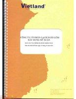 Báo cáo tài chính năm 2014 (đã kiểm toán) - Công ty cổ phần Gạch Ngói Gốm Xây dựng Mỹ Xuân