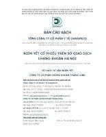Bản cáo bạch - Tổng Công ty cổ phần Y tế Danameco