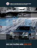 Báo cáo thường niên năm 2008 - Công ty Cổ phần Dịch vụ Ô tô Hàng Xanh