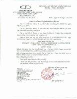 Nghị quyết Hội đồng Quản trị ngày 20-06-2011 - Công ty Cổ phần Đầu tư Phát triển Dịch vụ Công trình Công cộng Đức Long Gia Lai