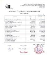 Báo cáo tài chính quý 4 năm 2009 - Công ty cổ phần Kỹ thuật điện Toàn Cầu