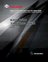 Báo cáo thường niên năm 2011 - Công ty Cổ phần Dịch vụ Ô tô Hàng Xanh