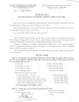 Nghị quyết đại hội cổ đông ngày 15-04-2011 - Công ty Cổ phần Sách Giáo dục tại Tp. Đà Nẵng
