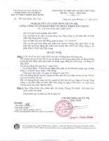 Nghị quyết Hội đồng Quản trị ngày 3-12-2010 - Tổng Công ty Cổ phần Đầu tư Phát triển Xây dựng