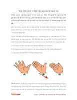 Xem tính cách và hậu vận qua các kẽ ngón tay