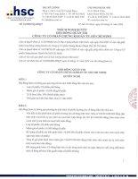 Nghị quyết Hội đồng Quản trị ngày 21-10-2009 - Công ty Cổ phần Chứng khoán Thành phố Hồ Chí Minh