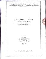 Báo cáo tài chính hợp nhất quý 4 năm 2015 - Công ty Cổ phần Sách và Thiết bị giáo dục Nam Định