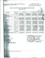 Báo cáo KQKD công ty mẹ quý 1 năm 2011 - Công ty cổ phần Xây dựng và Kinh doanh Địa ốc Hoà Bình
