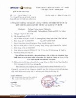 Báo cáo tài chính hợp nhất năm 2014 (đã kiểm toán) - Tập đoàn Bảo Việt