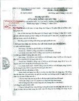 Nghị quyết Hội đồng Quản trị ngày 10-11-2011 - Công ty cổ phần Đầu tư và Phát triển Cảng Đình Vũ