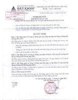 Nghị quyết Hội đồng Quản trị ngày 11-01-2011 - Công ty Cổ phần Dịch vụ và Xây dựng Địa ốc Đất Xanh
