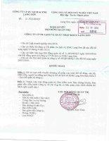 Nghị quyết Hội đồng Quản trị - Công ty Cổ phần Du lịch và Xuất nhập khẩu Lạng Sơn