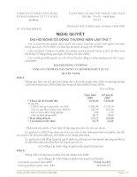 Nghị quyết đại hội cổ đông ngày 10-04-2009 - Công ty Cổ phần Xây dựng và Kinh doanh Vật tư