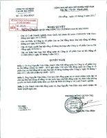 Nghị quyết Hội đồng Quản trị ngày 30-3-2011 - Công ty Cổ phần Cao su Đà Nẵng