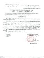 Nghị quyết Hội đồng Quản trị - Công ty Cổ phần Du lịch Đắk Lắk