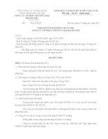 Nghị quyết Hội đồng Quản trị ngày 28-04-2011 - Công ty Cổ phần Thương mại Bia Hà Nội