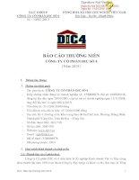 Báo cáo thường niên năm 2015 - Công ty Cổ phần DIC số 4