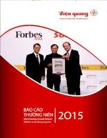 Báo cáo thường niên năm 2015 - Công ty Cổ phần Bóng đèn Điện Quang