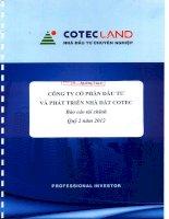 Báo cáo tài chính công ty mẹ quý 2 năm 2012 - Công ty Cổ phần Đầu tư và Phát triển Nhà đất COTEC