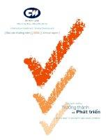 Báo cáo thường niên năm 2009 - Công ty cổ phần Đầu tư Hạ tầng Kỹ thuật T.P Hồ Chí Minh