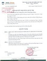 Nghị quyết Hội đồng Quản trị ngày 27-5-2011 - Công ty Cổ phần Hoàng Anh Gia Lai