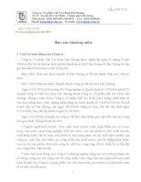 Báo cáo thường niên năm 2007 - Công ty Cổ phần Chế tạo Bơm Hải Dương