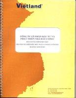Báo cáo tài chính hợp nhất năm 2012 (đã kiểm toán) - Công ty Cổ phần Đầu tư và Phát triển Nhà đất COTEC