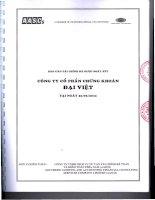 Báo cáo tài chính quý 2 năm 2012 (đã soát xét) - Công ty Cổ phần Chứng khoán Đại Việt