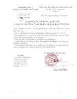 Nghị quyết Hội đồng Quản trị ngày 20-10-2010 - Công ty Cổ phần Phát triển nhà Bà Rịa-Vũng Tàu