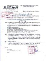 Nghị quyết Hội đồng Quản trị ngày 24-01-2011 - Công ty Cổ phần Dịch vụ và Xây dựng Địa ốc Đất Xanh