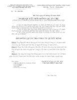 Nghị quyết Hội đồng Quản trị ngày 5-10-2010 - Công ty Cổ phần Sách Giáo dục tại Tp.Hà Nội