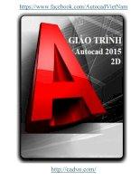 Giáo Trình AutoCAD 2015 (Tiếng Việt)