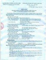 Nghị quyết Đại hội cổ đông thường niên - Công ty Cổ phần VICEM Vật liệu Xây dựng Đà Nẵng