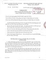Nghị quyết Hội đồng Quản trị - Công ty Cổ phần Cấp nước Gia Định