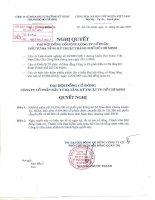 Nghị quyết đại hội cổ đông ngày 12-9-2009 - Công ty cổ phần Đầu tư Hạ tầng Kỹ thuật T.P Hồ Chí Minh