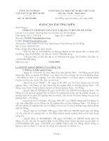 Báo cáo thường niên năm 2009 - Công ty Cổ phần Vận tải và Quản lý Bến xe Đà Nẵng