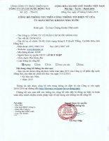 Báo cáo tài chính công ty mẹ năm 2015 (đã kiểm toán) - CTCP Cấp nước Đồng Nai