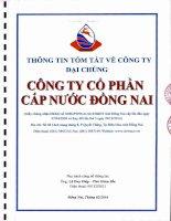 Bản cáo bạch năm 2016 - CTCP Cấp nước Đồng Nai
