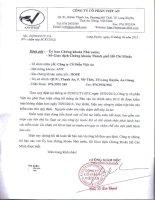 Báo cáo tài chính năm 2012 (đã kiểm toán) - Công ty Cổ phần Việt An