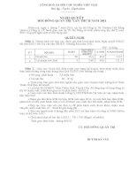 Nghị quyết Hội đồng Quản trị ngày 01-07-2011 - Công ty Cổ phần Sách Giáo dục tại Tp. Đà Nẵng