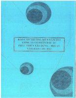 Báo cáo thường niên năm 2011 - Công ty Cổ phần Đầu tư Phát triển Xây dựng - Hội An