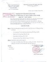 Nghị quyết Hội đồng Quản trị ngày 19-10-2010 - Công ty Cổ phần Đầu tư Phát triển Công nghệ Điện tử Viễn thông