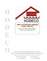 Báo cáo tài chính công ty mẹ quý 1 năm 2011 - Công ty Cổ phần Phát triển nhà Bà Rịa-Vũng Tàu